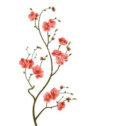 Cherry blossom branch abstract background vector- branch has certain amount of balance with lines and flowers without being symmetrical. Love it- need to paint it!