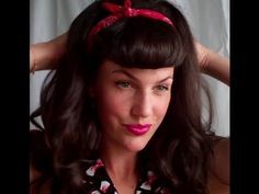 Super quick and Easy Faux Bettie Bangs (U - shaped fringe how to tutorial) - Vintagious - * *Ive never done it this way, but it actually looks easier than my way so I'm trying this!