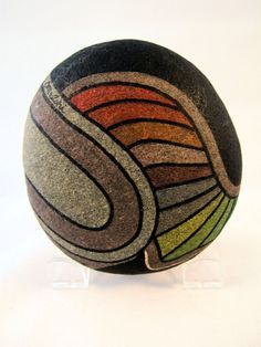 Sammlerstück 3D Kunst handgemalte Felsen signierte von IshiGallery