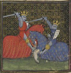 Manuscript BNF Français 12595 Roman de la Rose Folio 50v Dating 1275-1425 From Paris, France Holding Institution Bibliothèque Nationale