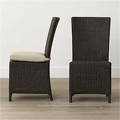 Captiva Java Dining Chair and Stone Cushion