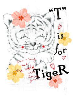 T is for tiger. M.J.Brignardelli