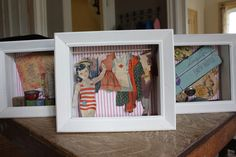 How to assemble items for a shadow box - DIY Shadow Boxes Using Picture Frames