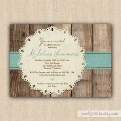 Rustic Baby Boy Shower Invitations  DIY Printable by PoofyPrints, $24.00