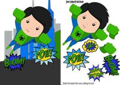 super hero in green taking to the skies A5 on Craftsuprint - Add To Basket!