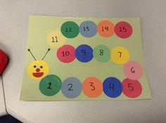 Counting caterpillar craft