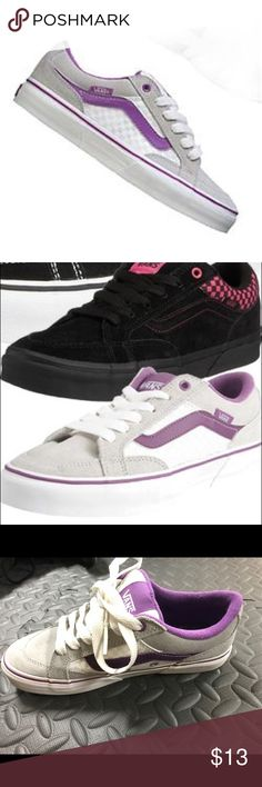Classic aubree vans : purple, white, grey color Classic aubree vans : purple, white, grey color Vans Shoes Sneakers