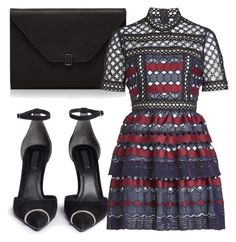 A fashion look from October 2017 featuring blue dress, black high heel shoes and real leather purses. Browse and shop related looks. Fashion Styles, Women's Fashion, Red Carpet Ready, Short Gowns, Black Women Fashion, Costume Dress, Issa, Her Style, Alexander Wang