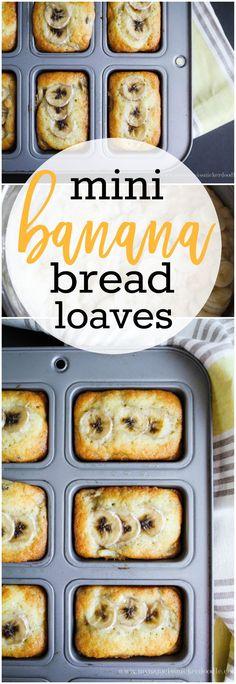 Mini Banana Bread Loaves. SO DANG GOOD! via MyNameIsSnickerdoodle.net