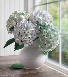 DIY Mother's Day : DIY Paper Hydrangea Flowers