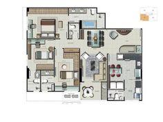 Apartamento de 3 quartos à Venda, Aguas Claras - DF - RUA 30 - R$ 710.949,00 - 115m² - Cod: 468