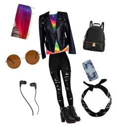 """""""Untitled #1"""" by justagirlnooneknows on Polyvore featuring Alexander McQueen, Michael Kors, Forever 21, Skullcandy, women's clothing, women, female, woman, misses and juniors"""