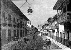 The Royal Street, today known as the Seventh Avenue (Carrera Séptima) Verona Street, Japan Spring, Cool Artwork, Amazing Artwork, Spring Time, 19th Century, Santa Fe, World, Carrera