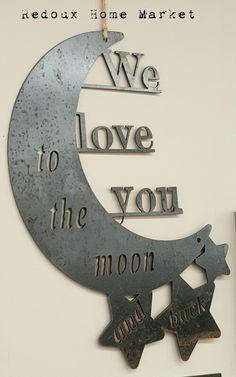 #metalsign #asseenonhgtv #iloveyoutothemoon #redouxhomemarket