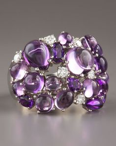 Roberto Coin - Amethyst & Diamond Ring ~ Gotta have it! It matches the bangle...♥