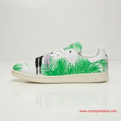 ec9d4805873e adidas PW STAN SMITH BBC PALM Leaves Green White Shoes For Women Stan Smith  Shoes