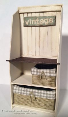 Fabulously Flawed Miniatures: Free Standing Wood Shelf…