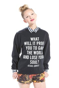 Mark 8:36 Sweatshirt Black