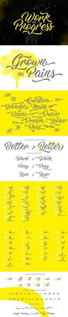 Work In Progress. Script Fonts