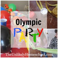 How do you plan an Olympic party with events like speed skating and the louge when it's too cold to play outside? You get a little creative and think outside the box. Here are a handful of games worth adding to your family fun. Olympic Party for Kids-The Unlikely Homeschool