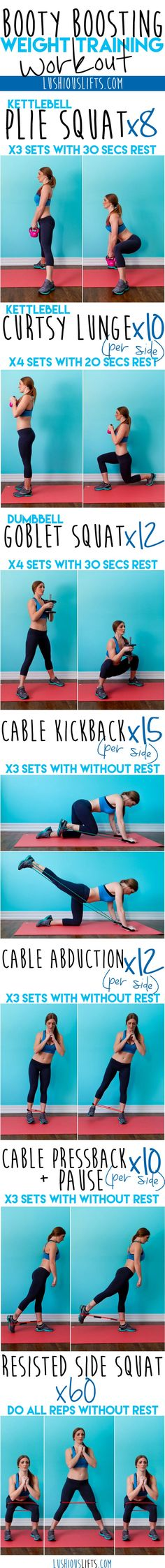 Yoga Fitness Plan - Booty Workout and Exercise to lose weight: For a great full body workout check out: howtoloseweightfr.…Without crunches, cardio, or ever setting foot in a gym! Fitness Workouts, Lower Ab Workouts, Butt Workout, Easy Workouts, Weight Workouts, Step Workout, Workout Women, Workout Plans, Workout Challenge