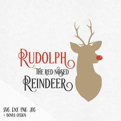 Rudolph the red nosed reindeer svg christmas svg reindeer head svg rudolph svg holidays svg design svg silhouette cricut svg svg files dxf