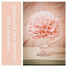 Cupcake Liner Pomander Tutorial {DIY Decorating}