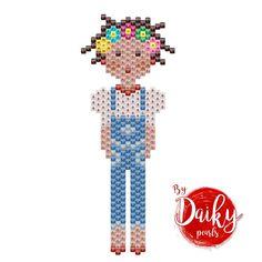 Ce soir je partage avec vous le diagramme de ma printanière en salopette ☀️ #vivementleprintemps #motifdaikypearls #perlesmiyuki #diagrammeperles #miyukidelica #perlesmiyukidelicas #tissagedeperles #jenfiledesperlesetjassume #jesuisunesquaw #salopette #perlesaddict Stitch Crochet, Peyote Stitch, Loom Bands, Loom Patterns, Beading Patterns, Brick Stitch Earrings, Peyote Beading, Beadwork, Beaded Crafts