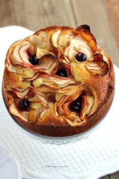 Torta di mele con rose | Chiarapassion