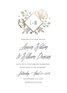 Wedding Invitation Challenge: Special Prize Winners | Julep