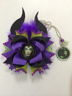 Maleficent Hair Bow Maleficent Inspired hair by TheJMarieBoutique