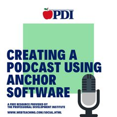 Enjoy and share this FREE resource on how to create a podcast using anchor software. Many teachers are working hard on the transition to distance learning and PDI is here to help! Discipline Plan, Online Education Courses, Effective Teaching, Online Classroom, Types Of Resources, Social Media Pages, Professional Development, Classroom Management, Anchor