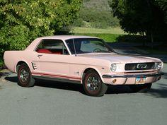 1966 Pink Mustang Side