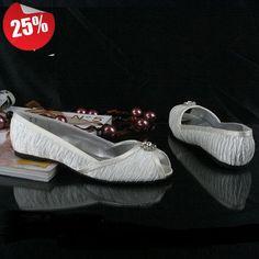 US 5-10 Fashion Silk Bead Bride ballet flat Wedding Shoes Ivory womens shoes #Handmade #BalletFlats