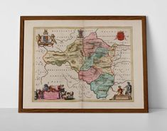 Historic Welsh County Map of Radnor, originally created by Willem Janszoon Blaeu, now available as a 'museum quality' poster print.  #Colwyn #homedecor #travelposter #interiordesign #hahnemuhle #Knighton #oldmap #NewRadnor #radnor #oldwelshcounties #Painscastle #Presteigne #RadnorOldMap #RadnorshireMap #randnorshirehistory #Rhayader #VintageRadnor #welshgifts