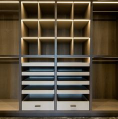 London Apartment by Roselind Wilson Design | Custom Closet Shelving | Photo by Richard Waite