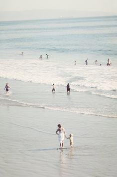 enjoying beach & sea