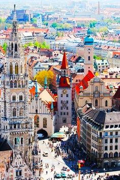 Munich, #Germany #Travel http://maupintour.com/tour/romantic-germany-tour-group-1  My dad was in the Army, and we were stationed here!  Lucky us!  Had the chance to travel all over Europe! Beautiful!