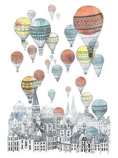 Beautiful Illustration #Edinburgh - Citing based sketches for our wrapping paper?