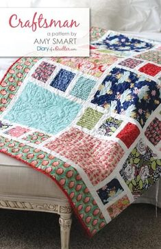 Fat Quarter-friendly quilt. Perfect for large prints. Available in Throw/Twin size and crib size.