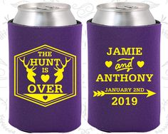 The Hunt is Over, Fun Wedding Gifts, Antler Wedding Favors, Deer Antler Wedding Favors, Cheap Koozies (272)