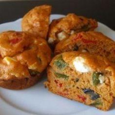 sós muffin receptek | NOSALTY Pizza Muffins, Ricotta, Baked Potato, Feta, Potatoes, Meals, Baking, Breakfast, Ethnic Recipes