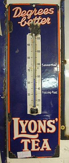 Lyons' Tea Thermometer sign