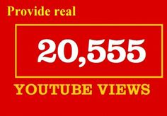 I will add 20,555 Youtube views, 30 youtube likes to your video for $10