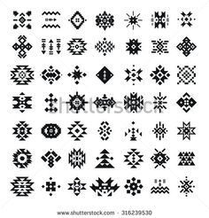 Find Abstract Geometric Elements Pattern Ethnic Collection stock images in HD and millions of other royalty-free stock photos, illustrations and vectors in the Shutterstock collection. Native American Patterns, Native American Symbols, Native American Design, Native Design, Motif Navajo, Navajo Pattern, Arte Tribal, Aztec Art, Tribal Logo