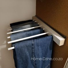 diy trouser pants jeans rack hanger