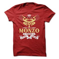 (Top Tshirt Sale) its a MONZO Thing You Wouldnt Understand T Shirt Hoodie Hoodies Year Name Birthday Facebook TShirt 2016 Hoodies, Funny Tee Shirts