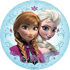 Frozen Elsa Anna Edible Image Photo Cake Topper Sheet Birthday Party - 8 Inches Round - 10032 *** Tried it! Elsa Frozen, Tags Frozen, Frozen Kids, Frozen Movie, Frozen Images, Frozen Pictures, Frozen Cupcakes, Frozen Cake Topper, Frozen Birthday Theme