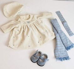 American Girl Doll Bitty Baby 2002 Winter Wonderland Outfit Dress ONLY