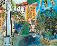 Raoul Dufy - Hyeres Squaure the Obelisk and Bandstand, 1927 at Art ...